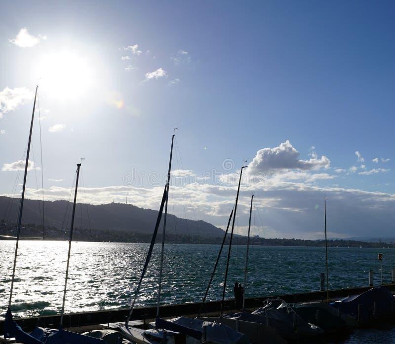 Lago Zurique Kuesnacht fotografia de stock
