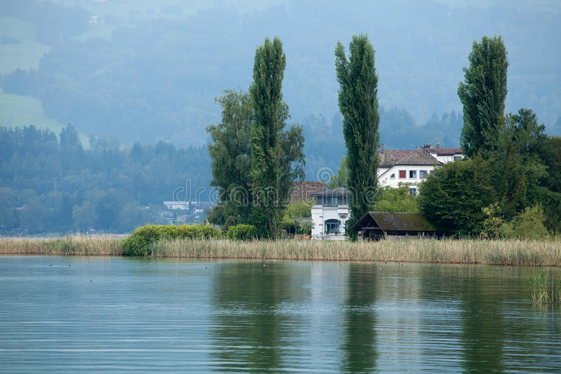 Lago Zurique, Switzerland imagens de stock royalty free