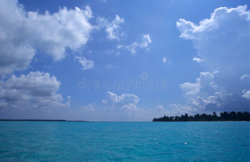 Lagoa azul do console de Saona - República Dominicana fotografia de stock