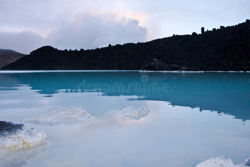Lagoa azul, Islândia foto de stock royalty free