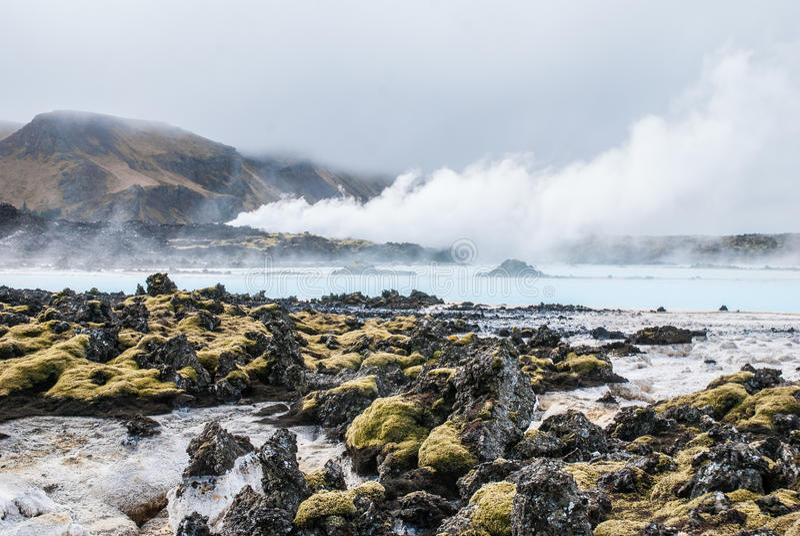 Lagoa azul, Islândia fotografia de stock