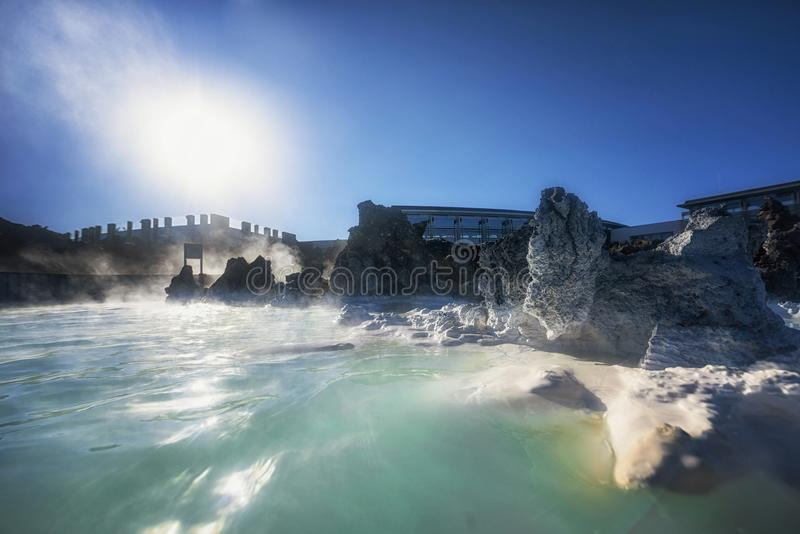 Lagoa azul Islândia imagem de stock