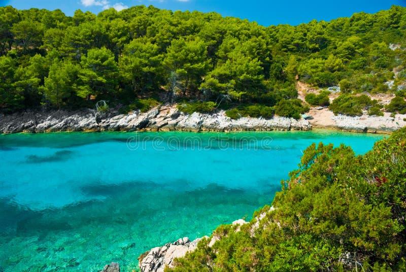 Lagoa azul no mar de adriático fotografia de stock royalty free