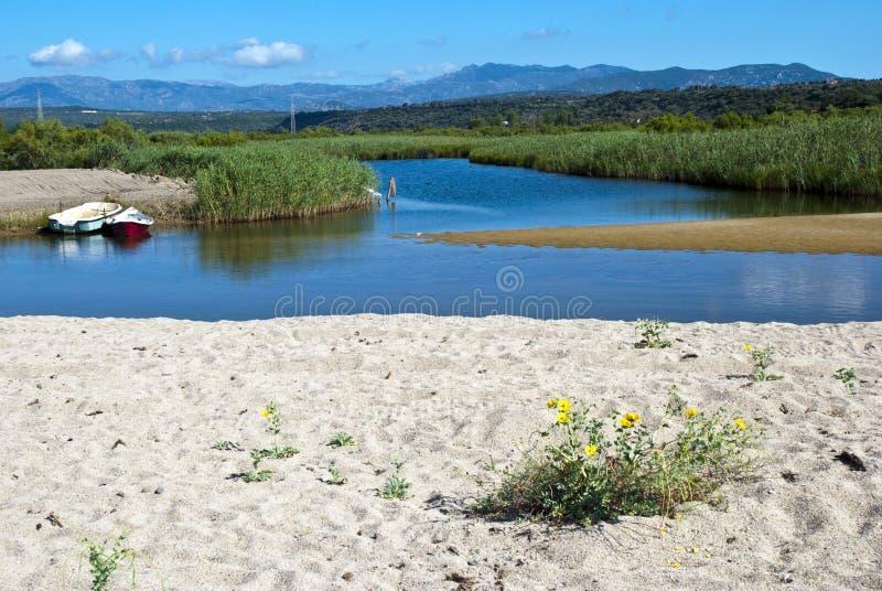 Lagoa bonita - Sardinia fotos de stock royalty free