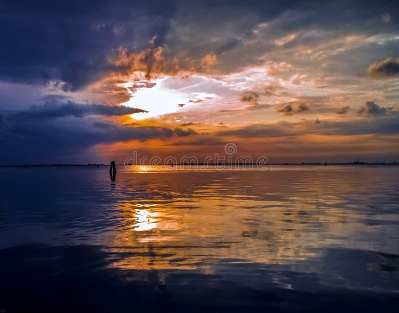 A lagoa calma de Veneza foto de stock royalty free