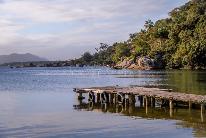 Lagoa DA Conceicao - Florianopolis, Santa Catarina, Brazilië stock fotografie