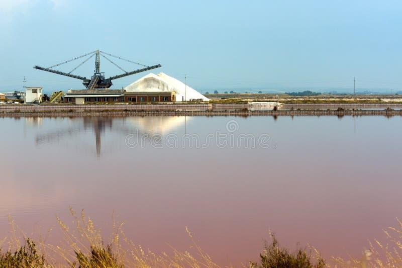 Lagoa da evaporação de sal foto de stock royalty free