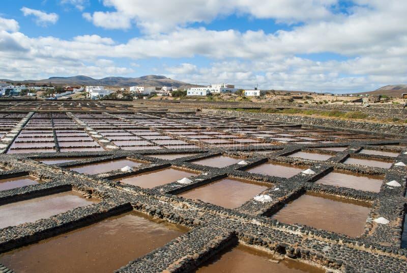 Lagoa da evaporação de sal fotografia de stock royalty free