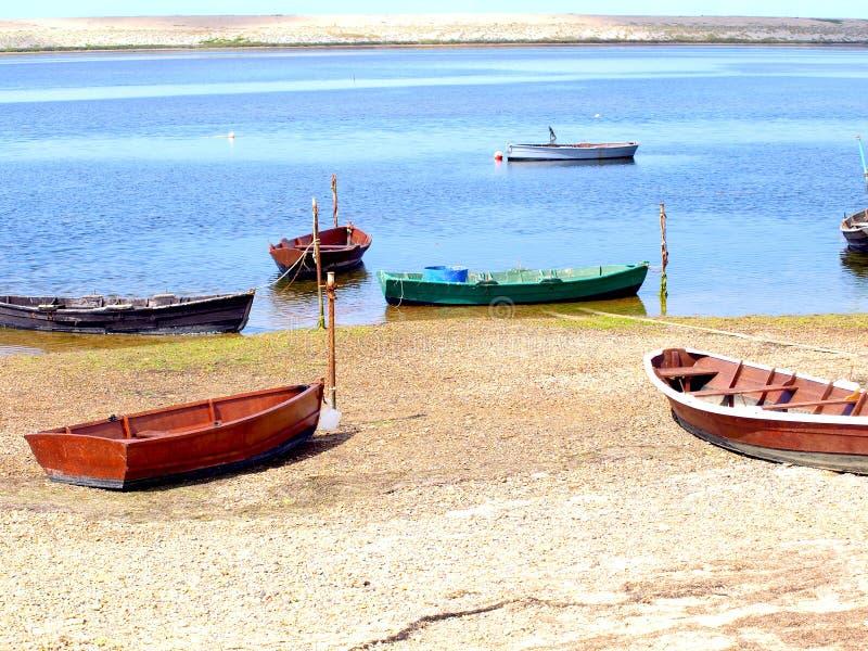 Lagoa da frota, Dorset. imagem de stock