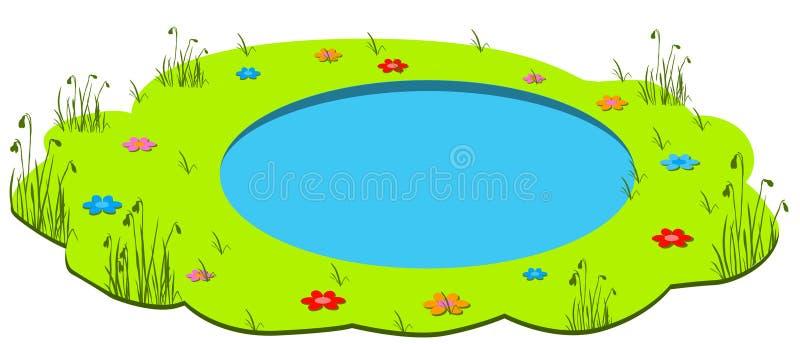 Lagoa da mola ilustração royalty free
