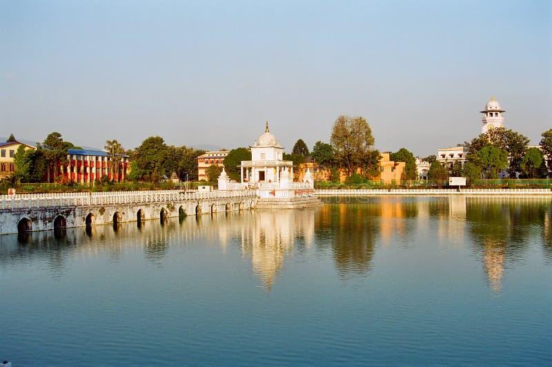 Lagoa da rainha de Kathmandu fotografia de stock royalty free