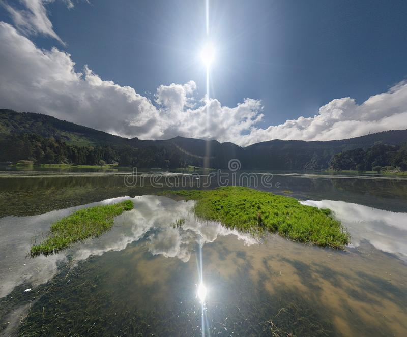 Lagoa DAS Sete Cidades Αζόρες στοκ φωτογραφία με δικαίωμα ελεύθερης χρήσης