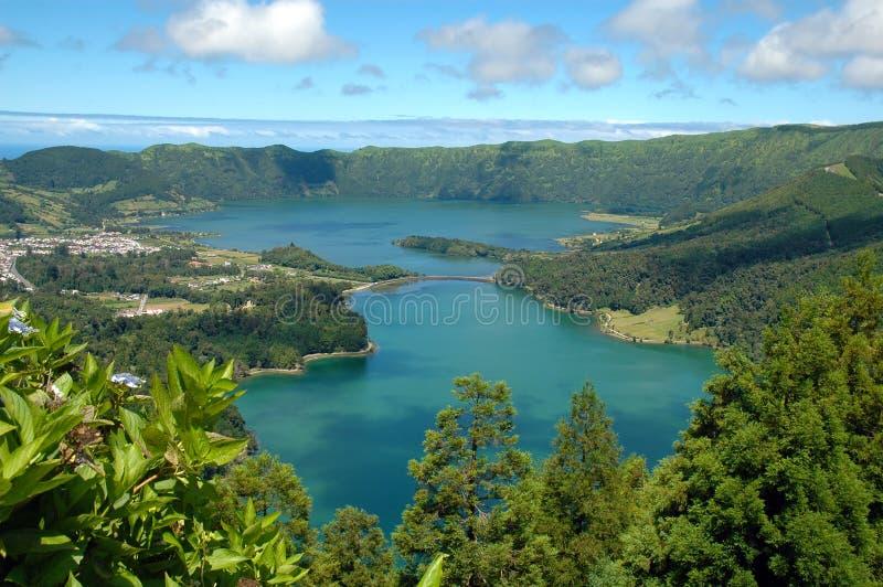 Lagoa DAS Sete Cidades, Açores, Portugal Photos libres de droits