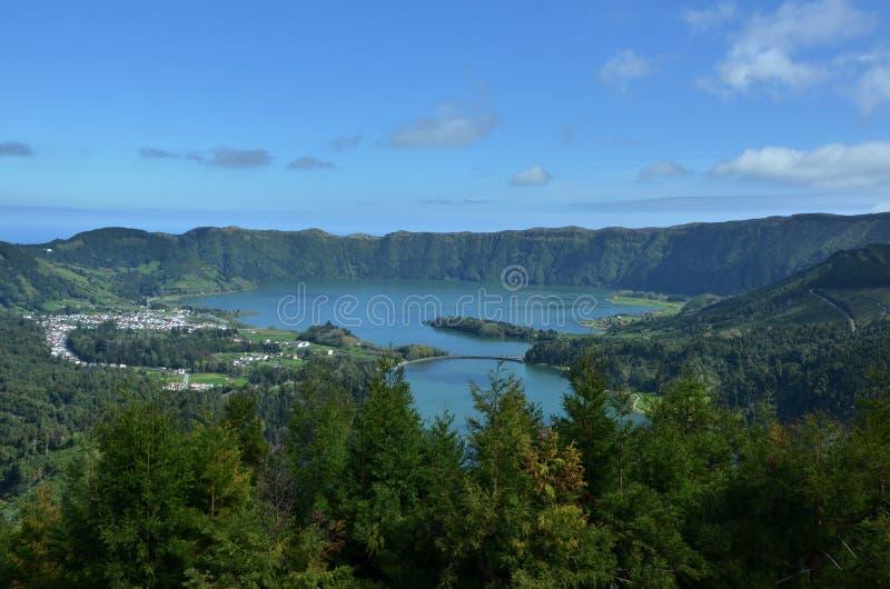 Lagoa das Sete Cidades, sao Miguel, Azores imagen de archivo libre de regalías