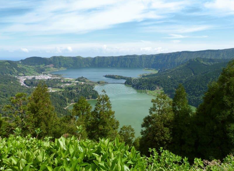 Lagoa das sete cidades at Sao Miguel Island stock image