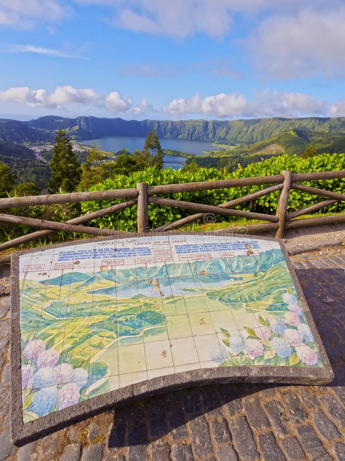 Lagoa das Sete Cidades on Sao Miguel Island royalty free stock photo