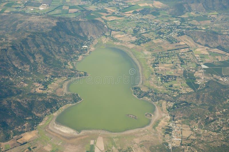 Lagoa de Aculeo - o Chile fotografia de stock