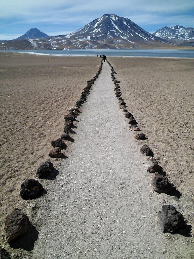 Lagoa de Altiplanic, deserto de Atacama, o Chile imagem de stock royalty free