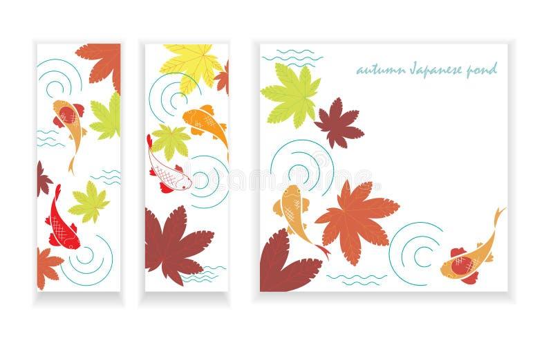 Lagoa de Autumn Japanese ilustração royalty free