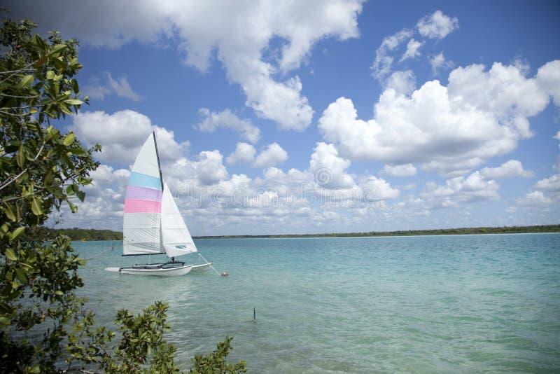 Lagoa de Bacalar, México foto de stock