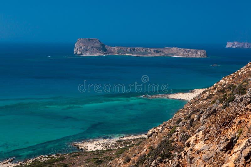Lagoa de Balos na ilha da Creta, Grécia imagens de stock royalty free