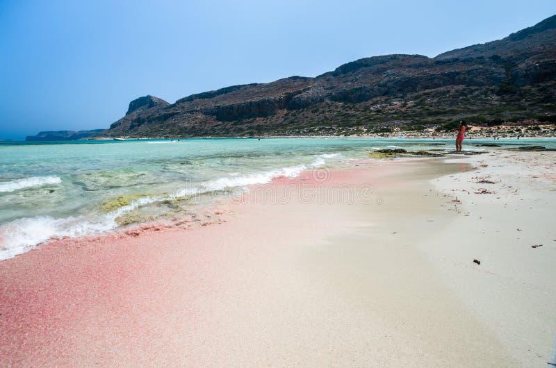 Lagoa de Balos na ilha da Creta, Grécia fotografia de stock royalty free