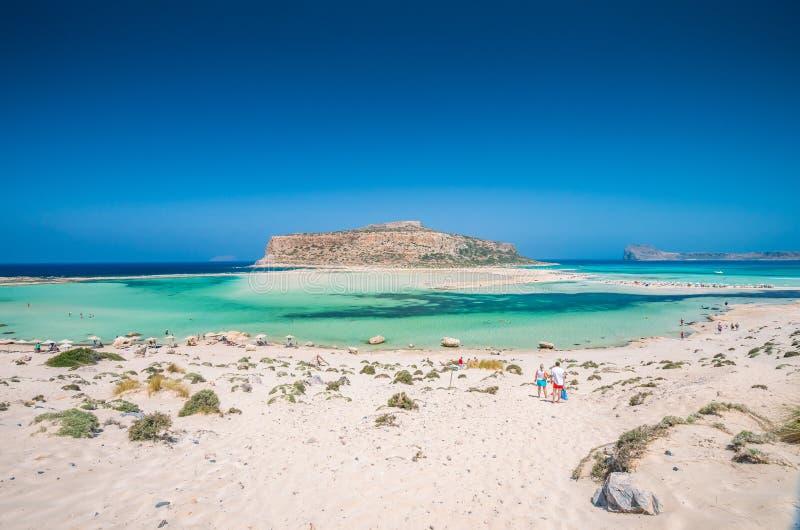 Lagoa de Balos na ilha da Creta, Grécia imagem de stock