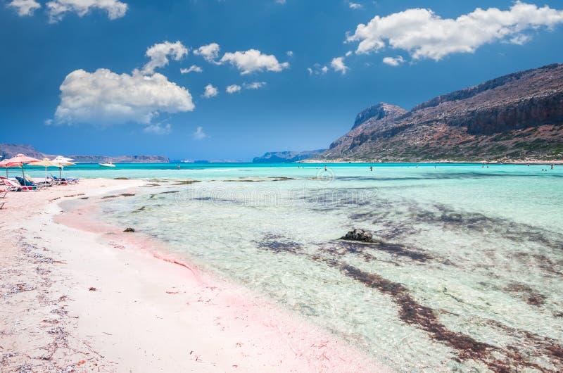 Lagoa de Balos na ilha da Creta, Grécia foto de stock