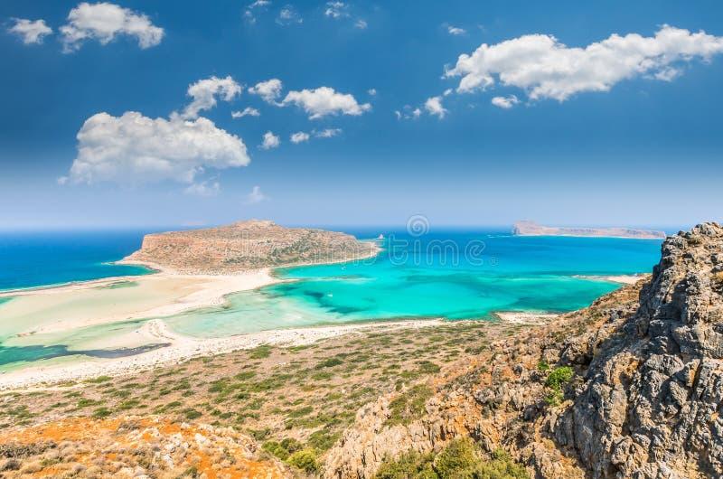 Lagoa de Balos na ilha da Creta, Grécia fotografia de stock