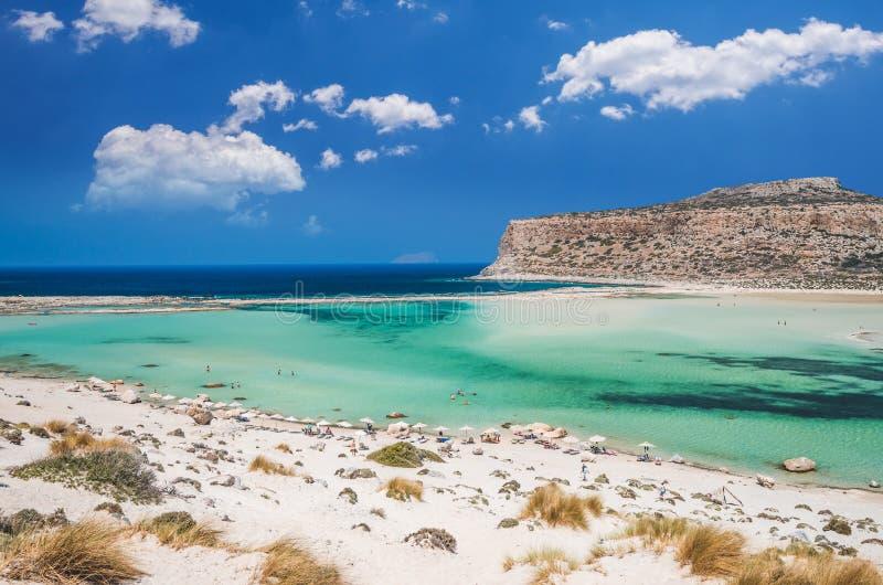 Lagoa de Balos na ilha da Creta, Grécia fotos de stock royalty free