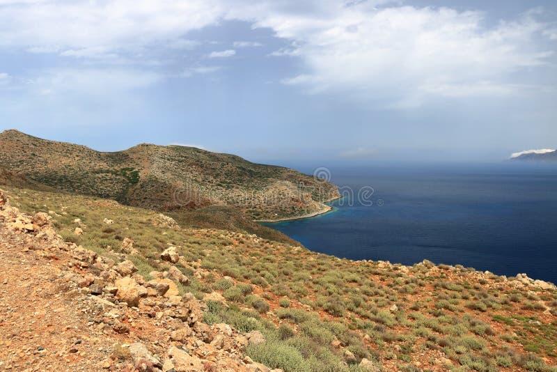 Lagoa de Balos na ilha da Creta, Gr?cia foto de stock