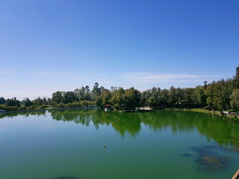 Lagoa de Cholula fotografia de stock