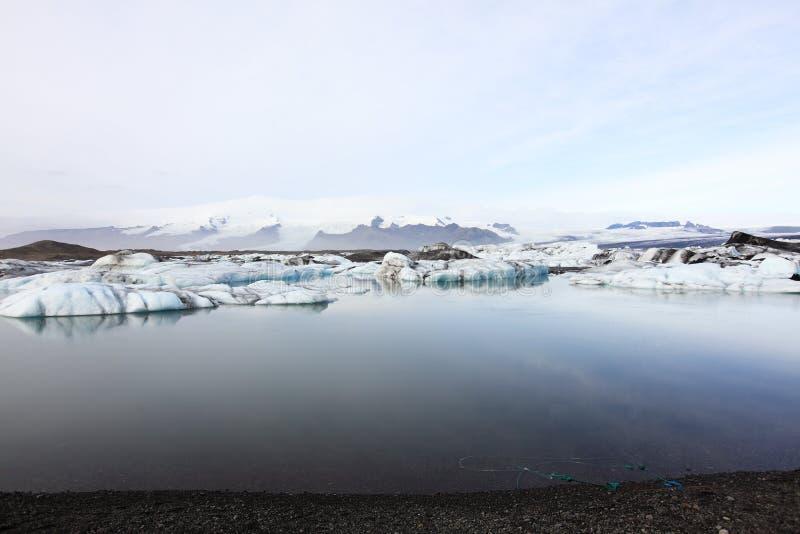 Lagoa de Jokulsarlon, Islândia imagem de stock