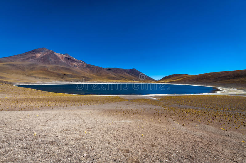 Lagoa de Miniques no Chile, Ámérica do Sul foto de stock royalty free