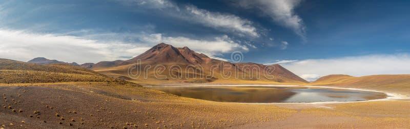 Lagoa de Miscanti e montanhas - deserto de Atacama, o Chile fotos de stock royalty free
