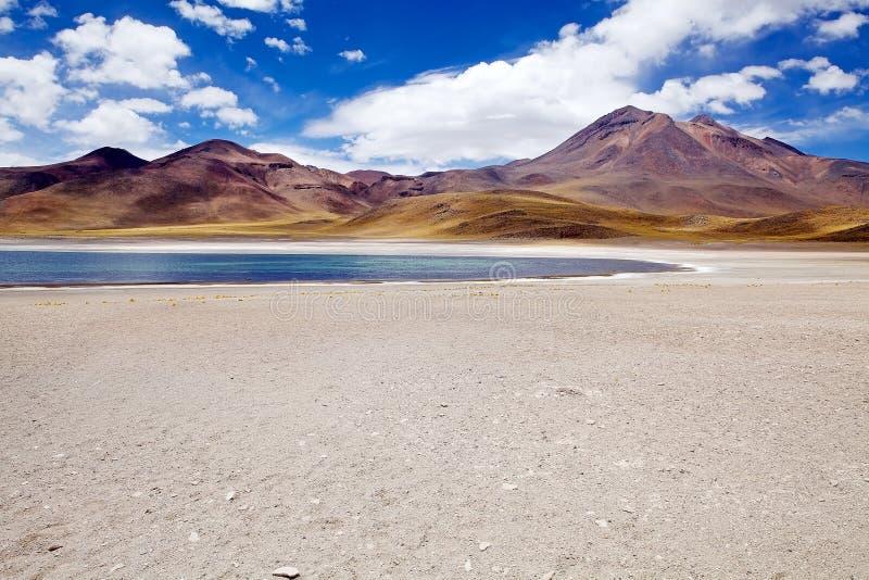Lagoa de Miscanti, o Chile foto de stock