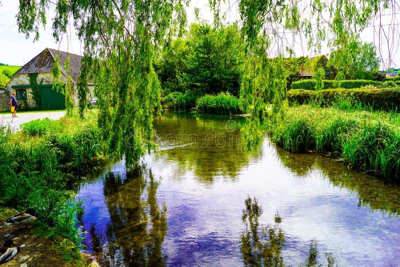 Lagoa de Osmington em um dia de verão imagens de stock