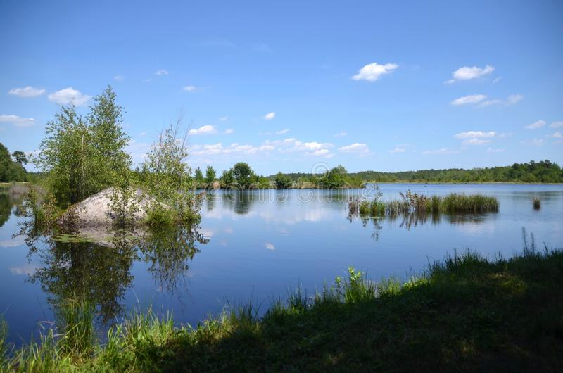 Lagoa de terra arrendada do pântano do arando foto de stock