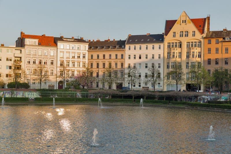 Lagoa do anjo em Berlim, Alemanha imagem de stock royalty free