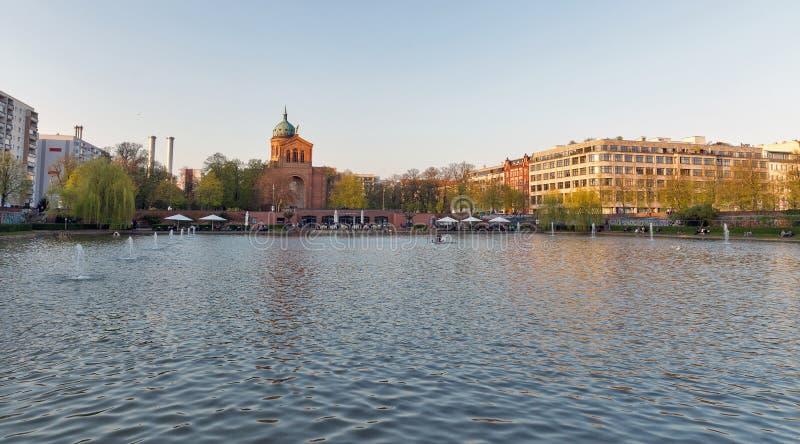 Lagoa do anjo em Berlim, Alemanha imagem de stock