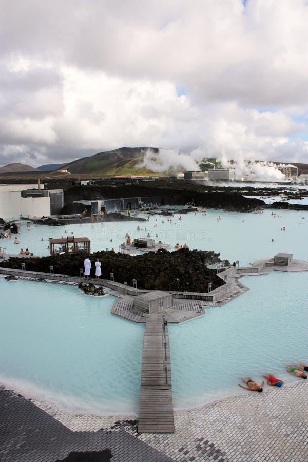 Lagoa do azul de Islândia