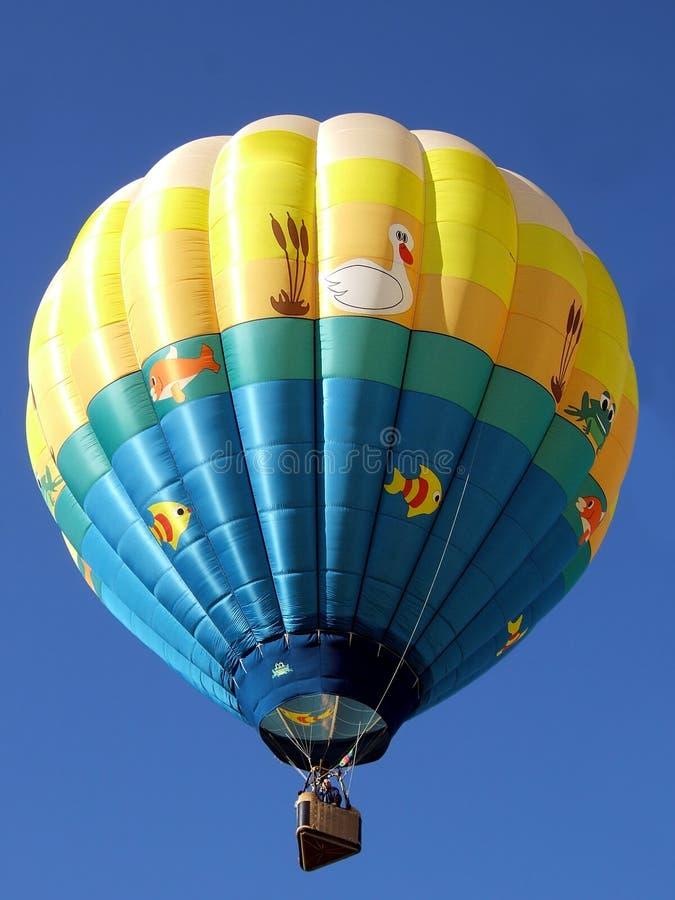 Lagoa do balão de ar quente foto de stock