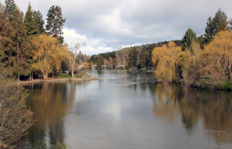 Lagoa do espelho, curvatura, Oregon fotos de stock royalty free