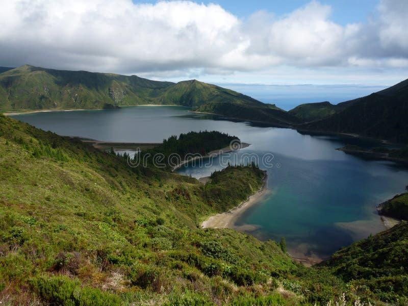 Lagoa do Fogo stock afbeeldingen