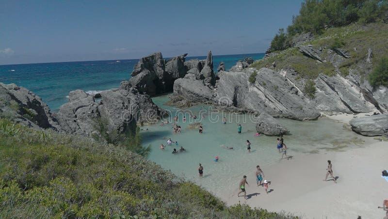 Lagoa em Bermuda imagem de stock