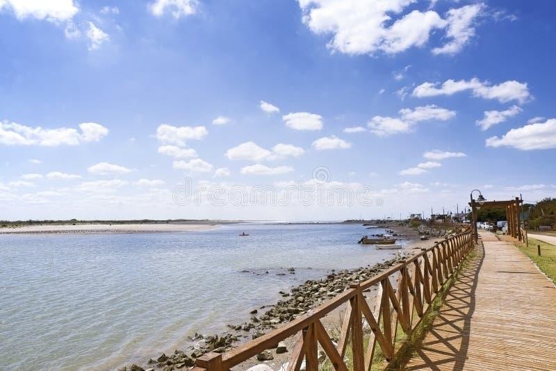 Lagoa em março del Plata imagem de stock