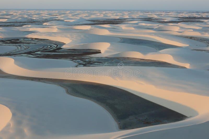 Lagoa em um deserto fotos de stock royalty free