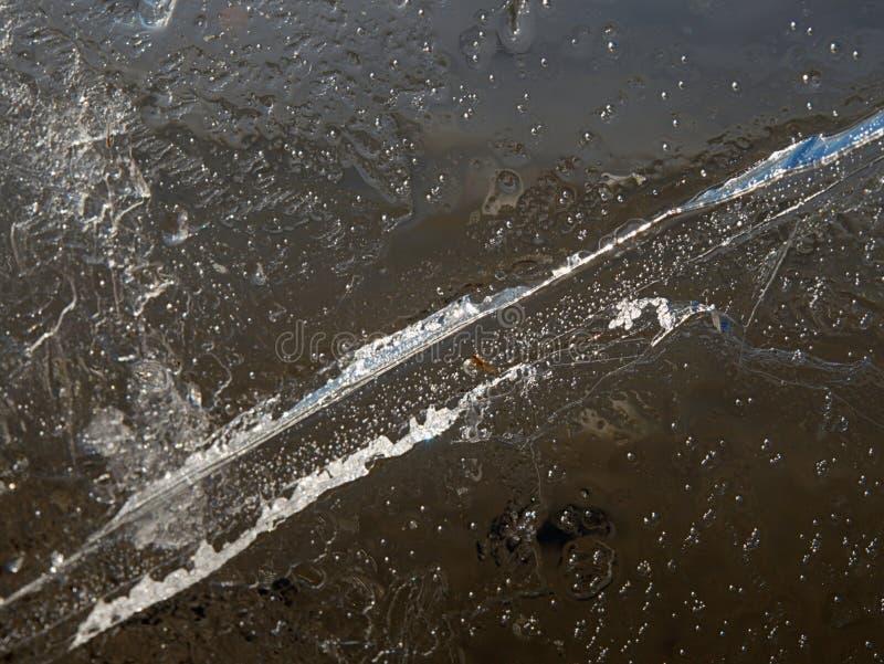 Lagoa glacial de derretimento lavada acima em um Sandy Beach pr?ximo imagens de stock royalty free
