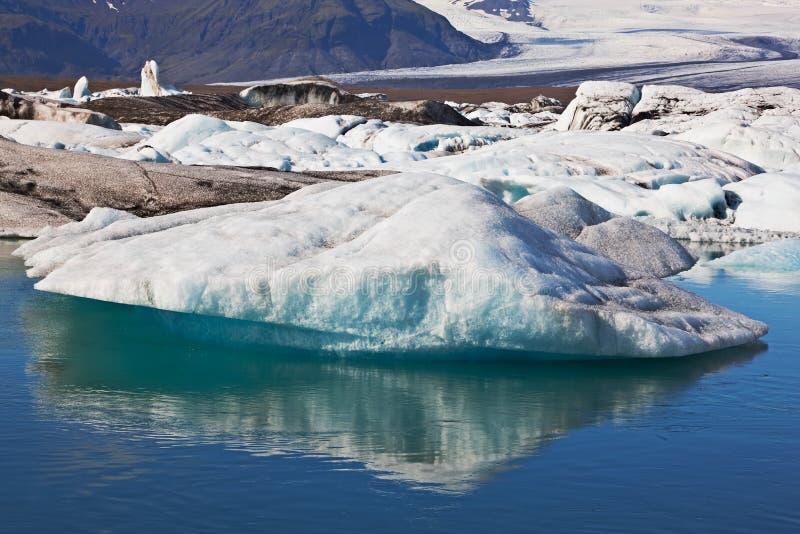 Lagoa Glacial de Jokulsarlon, Islândia fotos de stock royalty free