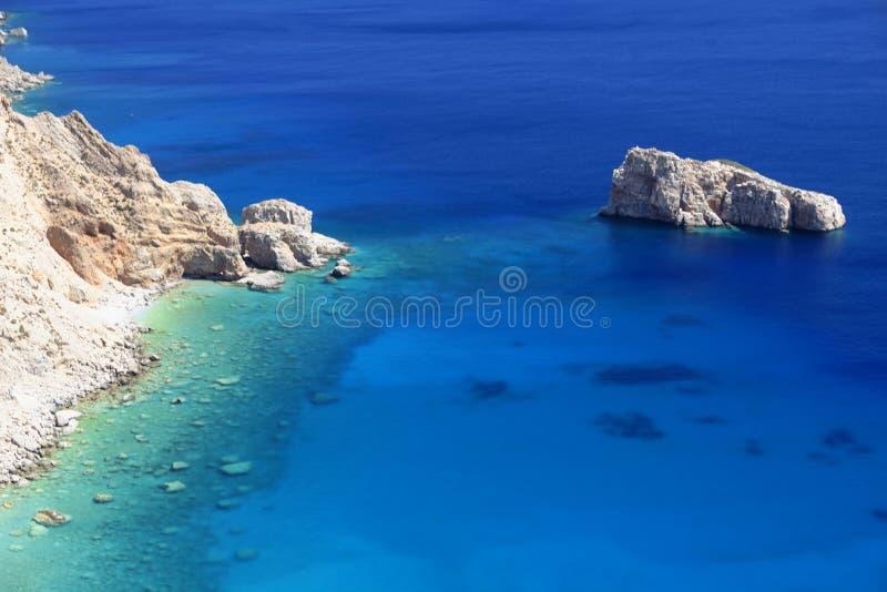 Lagoa grega azul fotografia de stock royalty free